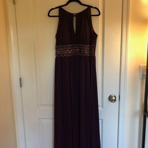 R&M Richards | Beaded Gown | Purple